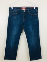 Lucky Brand Sweet'n Crop Women's Blue Straight Jeans Size 10/30 Medium Wash