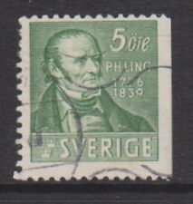 Sweden - 1939, 5 ore Green stamp - Perf 12 1/2 (3 sides) - Used - SG 228b