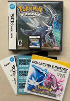 Authentic USA Pokemon: Diamond Version (DS, 2007) Complete CIB w/ Poster, Tested