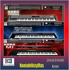 Korg Roland Yamaha for kontakt. Over 1000 Sounds + Wav Samples
