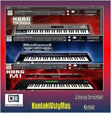 Korg Roland Yamaha for kontakt. Over 1000 Sounds + Wav Samples