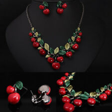Statement Necklaces Necklace Earrings Jewelry Sets Vintage Design Cherry