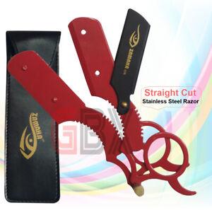 GBX UK - Straight Cut Stainless Steel Razor Blades Barber Saloon Shaving Knife