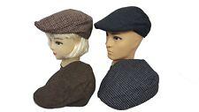 Mens Flat Cap Ladies Tweed Farmers Cap Country Derby Newspaper Boy Hat Peaky Cap