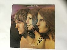 ELP Emerson Lake and Palmer signed lp by all 3 Trilogy