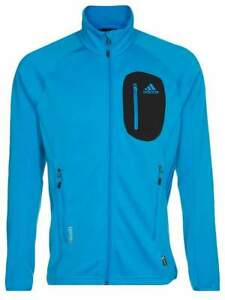 Adidas Mens Solar Blue Terrex Cocona Fleece Jacket