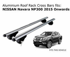 Aluminium Roof Rack Cross Bars fits Nissan Navara NP300 with roof rails 2015 +