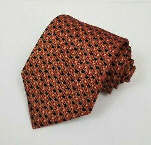NWT Jos A Bank Executive Collection 100% Silk Mens Necktie Geometric Red Black
