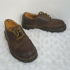 Dr Doc Martens Kids Low Boots Shoes Brown Leather UK 3 US 4 Youth Oxford (K)