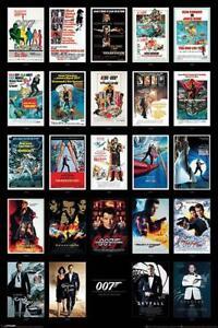 James Bond 007 Poster Filmplakate Collage 61 x 91,5 cm Plakat Wandbild Wanddeko