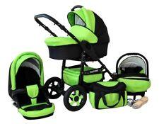 Carro de Bebé  3 en 1 (Capazo+Silla paseo+Silla Coche Grupo 0)