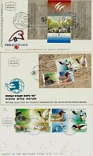 Israel 1989 Fdc Complete Year Set With S/Sheets - See 7 Scans