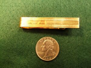"""BEAUTIFUL OLD VTG """"SWANK"""" YELLOW GOLD FILLED MENS MONEY CLIP (TIE CLIP SIZED)"""