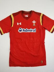 Wales Rugby Shirt Under Armour Mens Size Large See Details Admiral Red Fitted