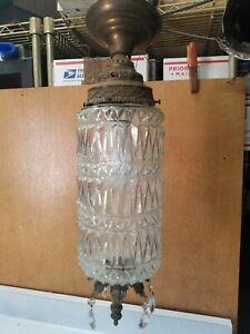 Vintage Mid Century Hollywood Regency Light Fixture  Pendant Swag lamp