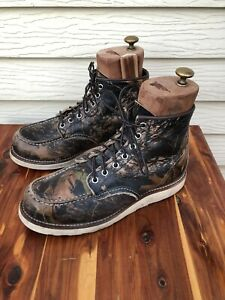 Red Wing Heritage Camo Boots Style #8884 Men's Size 8D Made In USA