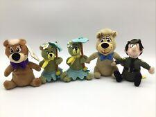 """Hanna Barbera Collection Yogi Bear 6"""" Plush Lot  Ranger Smith BooBoo Cindy"""