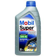 5 x Mobil Super 1000 Xi 15W-40 Minerale 1 Litro Auto Olio Motore Lubrificante