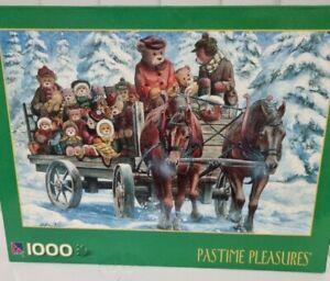 Sure-Lox 1000 Piece Puzzle, Snow Ride, complete size 48.5 x 73 cm