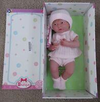 """JC Toys Cuddly Realistic 15"""" Newborn Girl Baby Doll, Pink W/ Hair,BOX DAMAGED"""