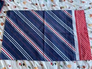 Vintage 80s Striped Pillowcase
