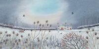 Jo Grundy - First Snow -Canvas READY TO HANG 30 x 60cm