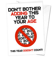 Funny Lockdown 2021 Birthday Card Friend Sister Daughter Mum Dad Brother Son Nan