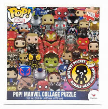 New Funko Pop Marvel 1000pc Collage Puzzle 19x26 Inch With Mystery Pocket Pop