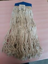 Large Cotton Commercial Mops Easy Screw-On Janitorial Cleaning Supplies Mop Head