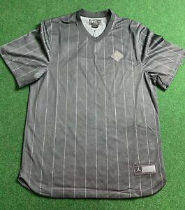 Mens Jordan 9 Black Baseball Jersey AH9909-010 Size XL MSRP $90