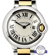 Ladies Cartier Ballon Bleu Quartz 28mm Two-Tone Stainless W2BB0010 3009 Watch