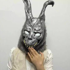 Donnie Darko FRANK Rabbit Mask the Bunny Latex Hood with Fur Halloween Helmet
