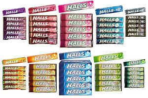 HALLS SWEETS CHERRY MENTHOL, HONEY - LEMON, COOLWAVE, MILD SPEARMINT, FRUIT BARS