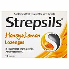 STREPSILS HONEY & LEMON LOZENGES - 16 DUAL ACTION SORE THROAT