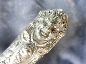 ANTIQUE REED AND BARTON FIGURAL SERVING PIECE WITH THE HEAD OF A DEVIL