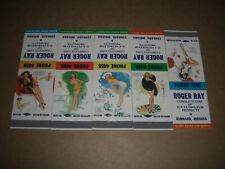 Pin-Up 1955 Roger Ray D-X Service Station Matchbook Covers Set of 5