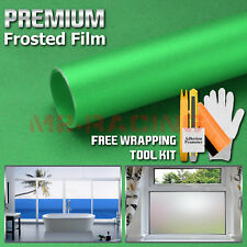 *Premium Green Frosted Film Glass Home Bathroom Window Security Privacy Sticker