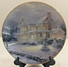 "Thomas Kinkade ""Winter Memories"" collector's Plate ""An Old-Fashioned Christmas"""