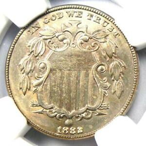 1882 Shield Nickel (5C Coin) - NGC Uncirculated Details (MS BU UNC) - Rare Date!