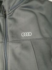 Audi Track Jacket Gray Full Zip Mens Small