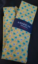 American Lifestyle Palm Trees 100% Microfiber Tie in Bright Yellow