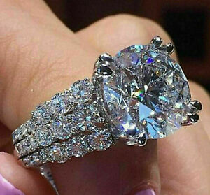 2.36 Ct Round Cut Diamond Solitaire Wedding Engagement Ring 14k White Gold Over