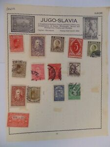 PA 429 - Page Of Mixed Yugoslavia Stamps