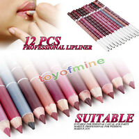 Professional 12 PCS Lipliner Waterproof Lip Liner Pencil 15CM 12 Colors