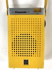 Vintage Panasonic AM Transistor Radio Yellow R-1029 Working