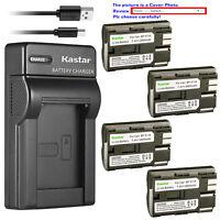 Kastar Battery Slim Charger for Canon BP-511 CG-580 & Optura 200MC Optura Pi