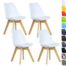 4er Set Esszimmerstühle Esszimmerstuhl Design Stühle Küchenstuhl Weiß BH29ws-4