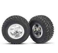 Traxxas TRA5875 Tires & Wheels (2) Glued Assm Front 2x4 Slash Telluride