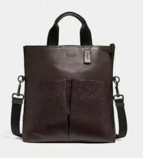NWT COACH MAN OXBLOOD CHARLES FOLDOVER TOTE BAG F11241