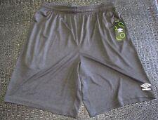 New Men's Umbro Grey Soccer Athletic Basektball Sports Shorts Size L Large NWT